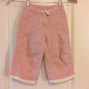 Mini Boden Pin Striped Pink Pants 3-4 Yr